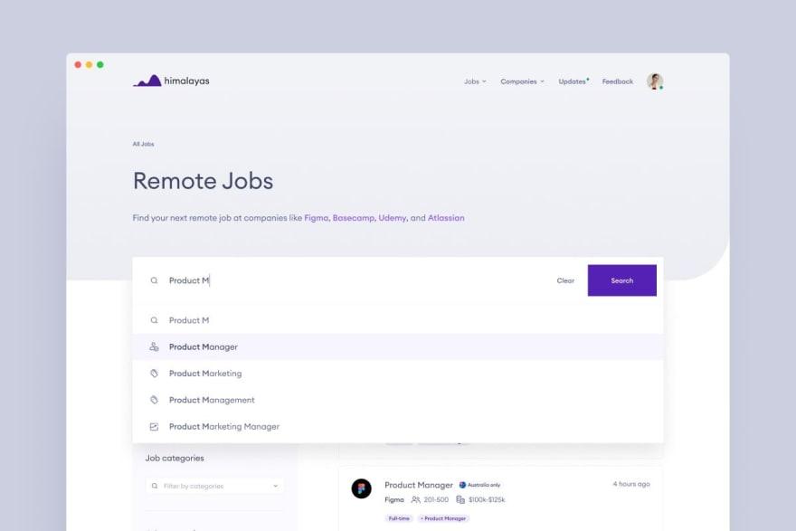 Himalayas remote jobs search