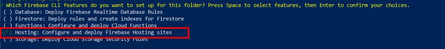 Firebase Hosting Config<br>