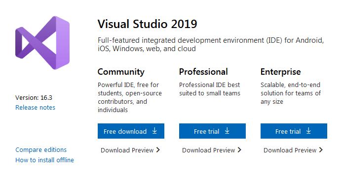 latest version of Visual Studio