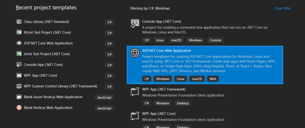 Cover image for Creating a .NET Core API