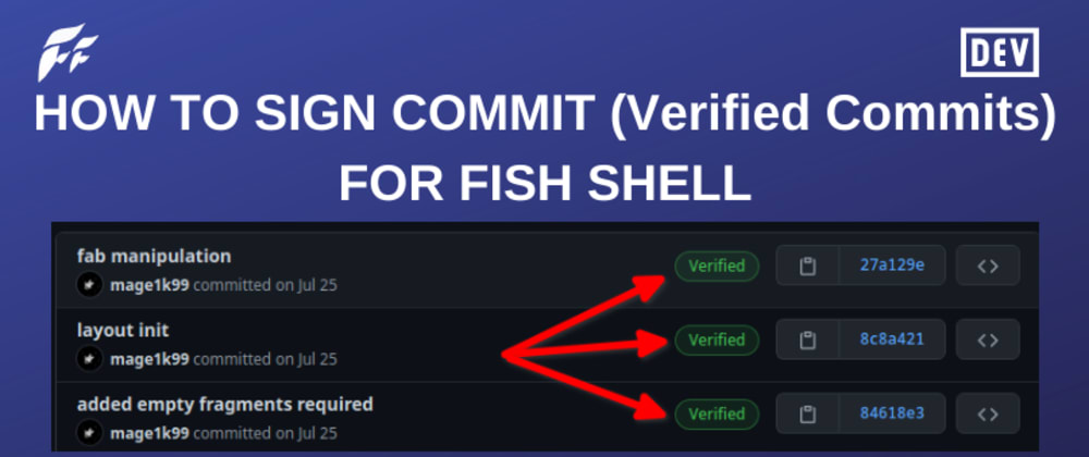 Cover image for How to Sign Commits in Git for Fish Shell