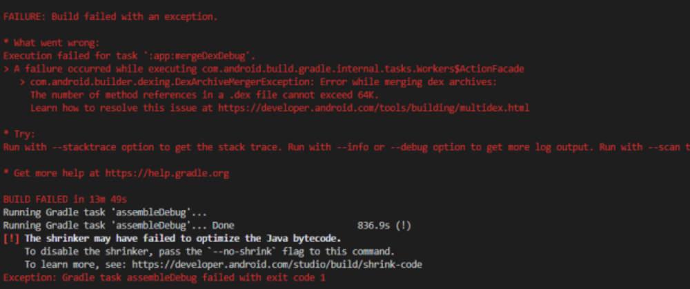 Cover image for How to solve shrinker error in Flutter.