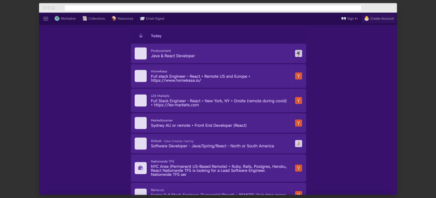Workline screen