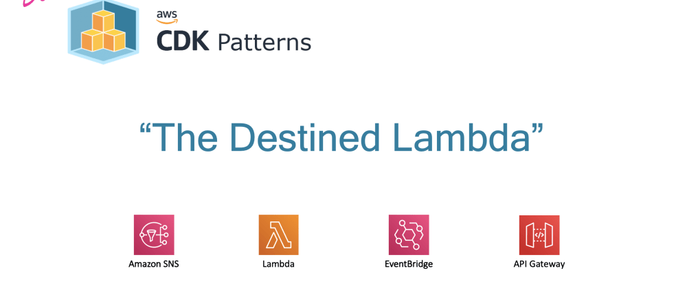 Cover image for Watch Deconstructing The Destined Lambda on Youtube today! AWS Lambda, API Gateway, Destinations and EventBridge