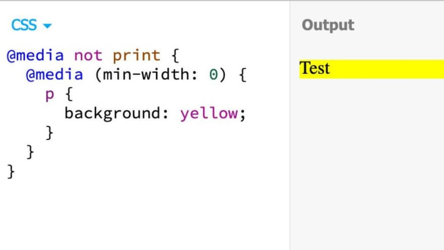 Nested Media Queries