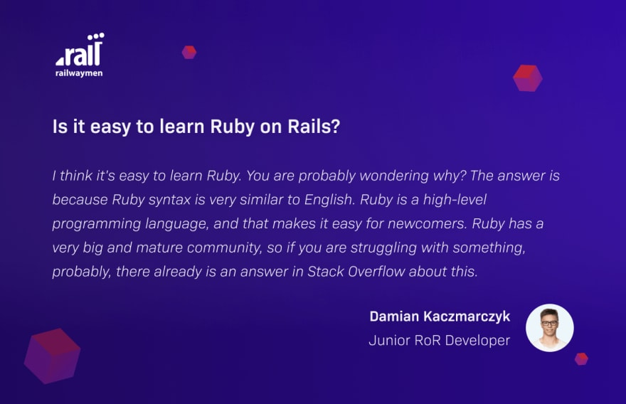 how to learn ruby on rails Damian