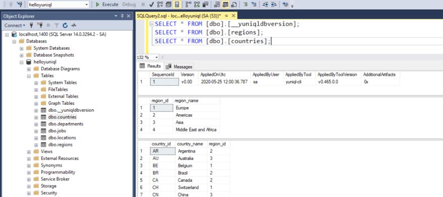 yuniql-database-migrations