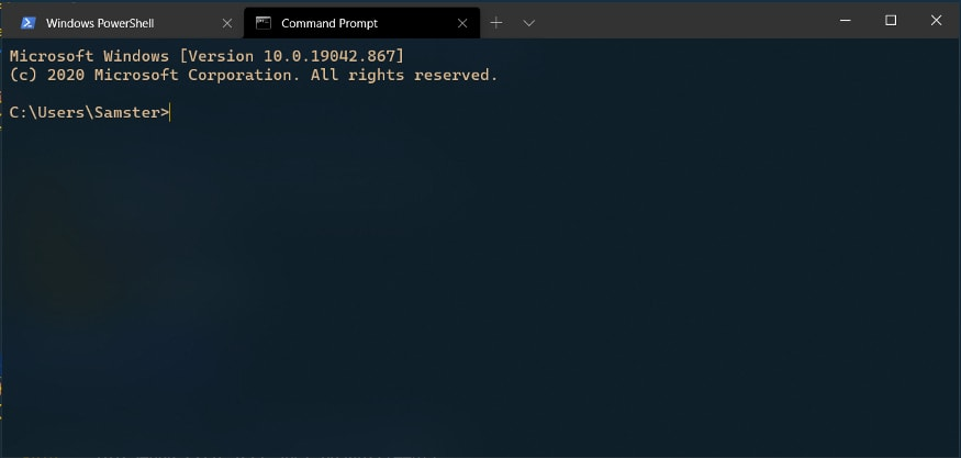 Windows terminal with useAcrylic = true