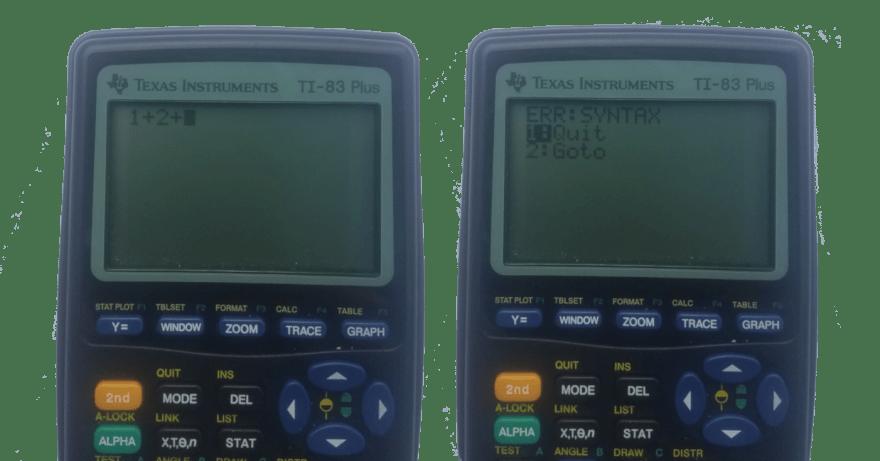 Syntax Error on TI-83