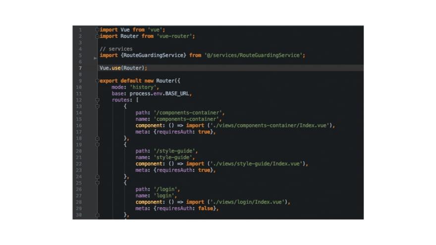 Image: Vue.js manual router