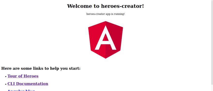 Exemplo da aplicação exemplo em execução