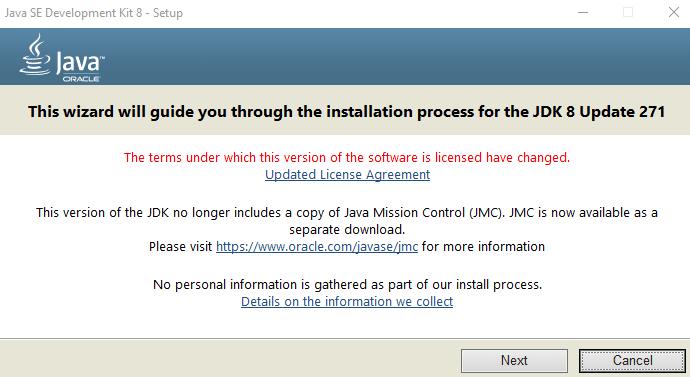 Java wizard installer