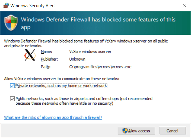 Setting permissions in Windows Firewall