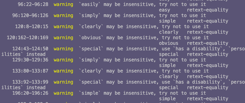 Cover image for Refactoring condescending language with alexjs