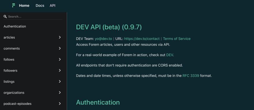 DEV API