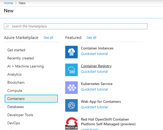Creating Docker registry