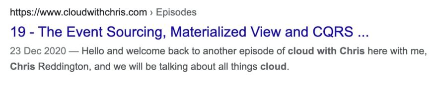 Showing breadcrumbs in Google Search
