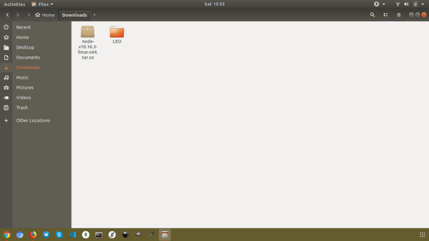A screenshot of my Downloads directory (Ubuntu)