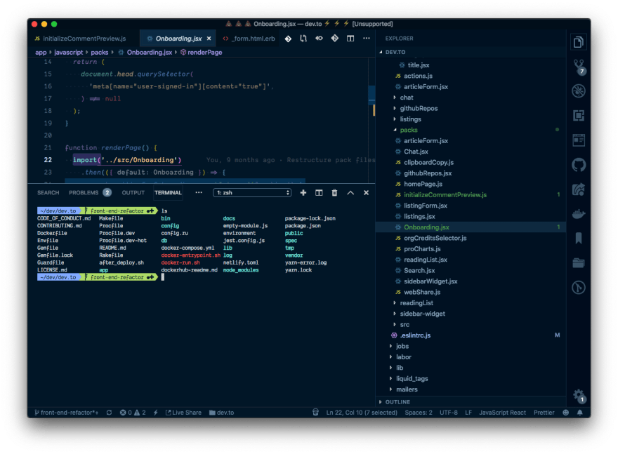 xsh in VS Code integrated terminal