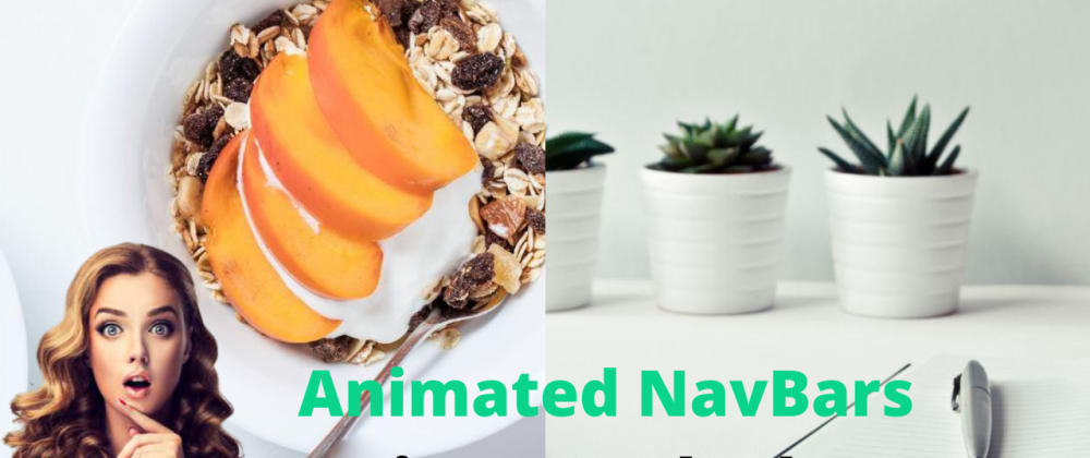 Cover image for Two Animated NavBars with Hover Effects using HTML & CSS
