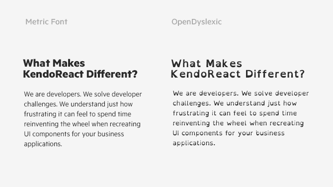 OpenDyslexic specialized font