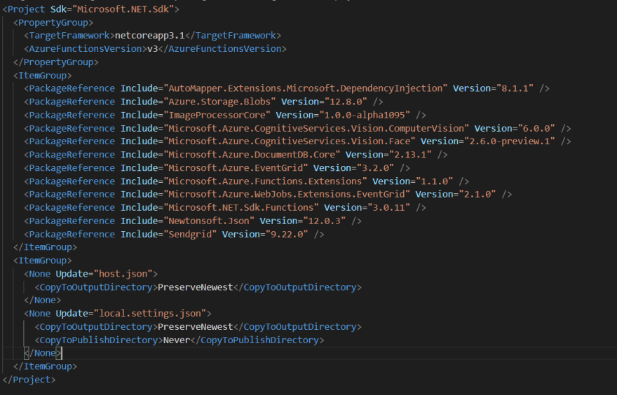 Nuget Packages and Other settings