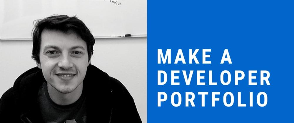 Cover image for How to make a junior web developer portfolio website
