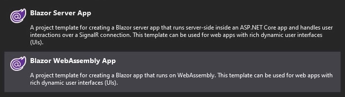 Blazor Server vs. Blazor WebAssembly