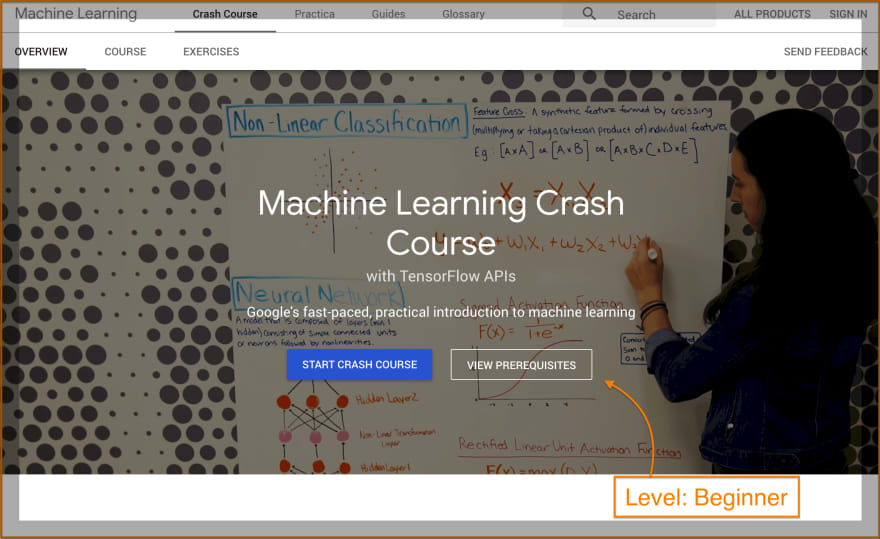Free Machine Learning Crash Course by Google