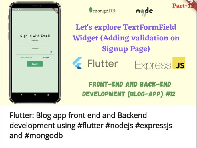 Blog App Development Front-End and Back-End
