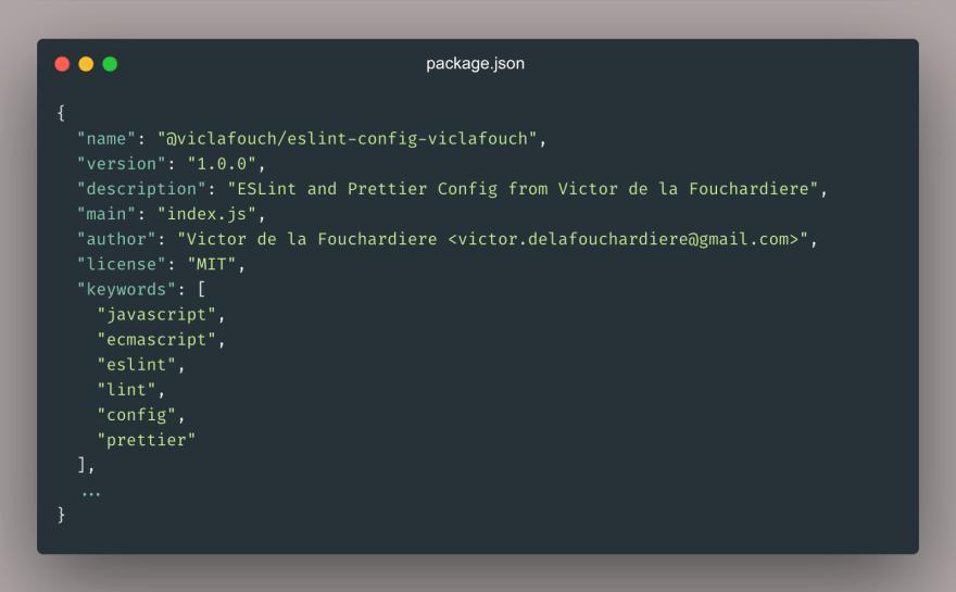 package.json metadata