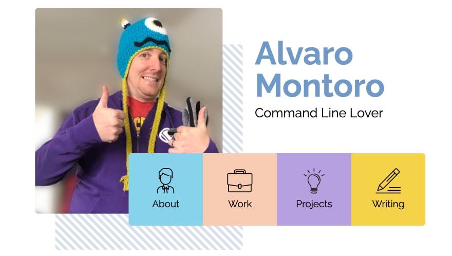 Screenshot of alvaromontoro.com header