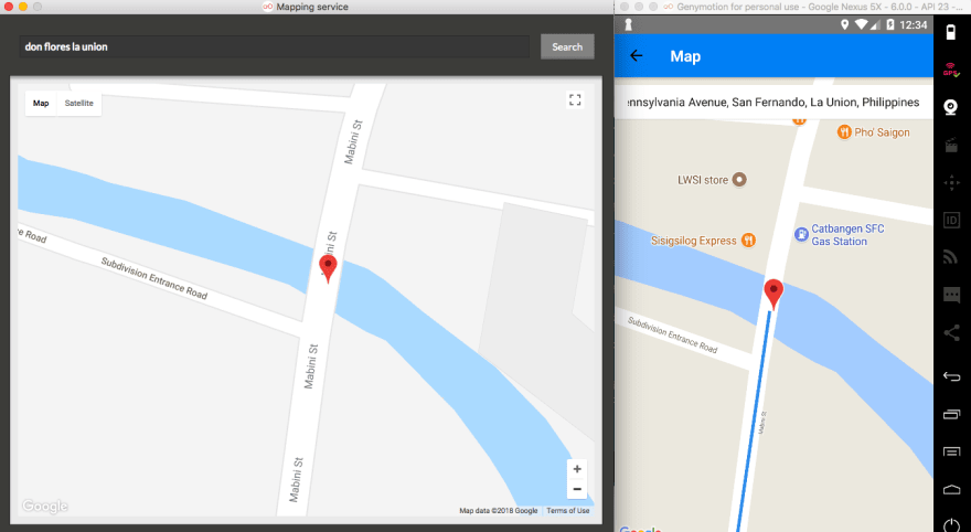 Rider's map shows their current location