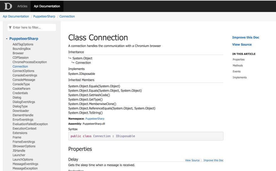 Good API Page