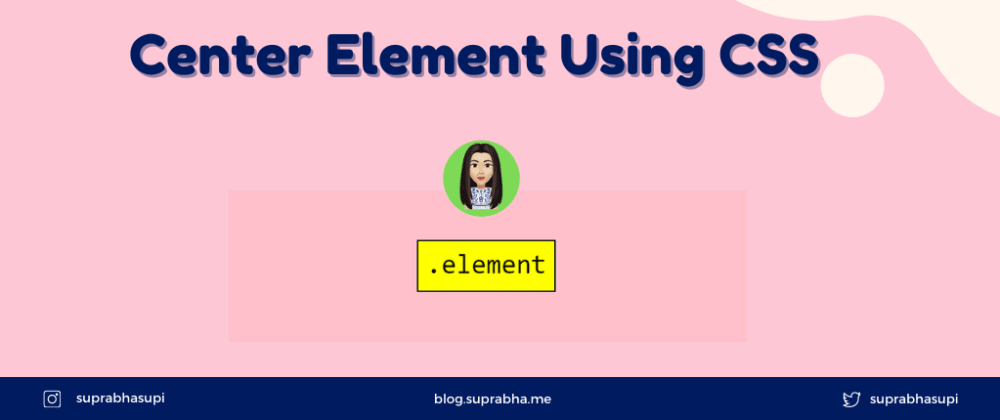 Cover image for Center Element Using CSS