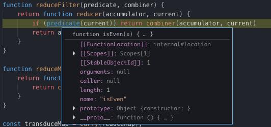 debugging reduceFilter