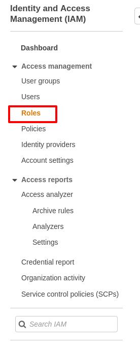 Roles Menu