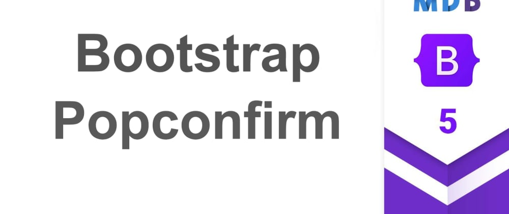 Cover image for Bootstrap 5 Popconfirm