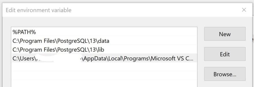 Windows PATH environment variable