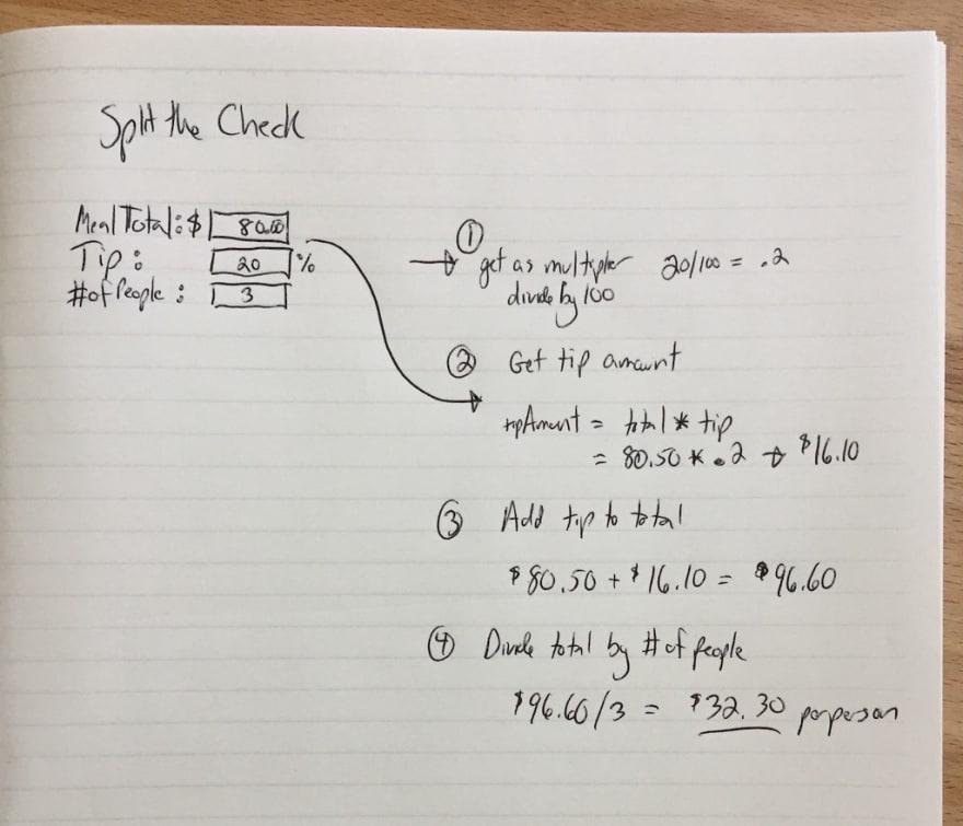 Vanilla JS script planning