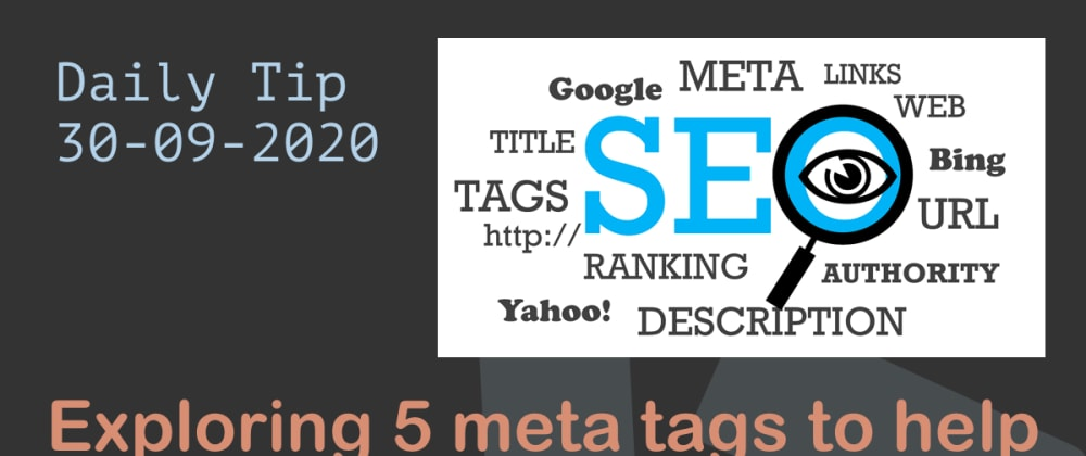 Cover image for Exploring 5 meta tags to help beginners with SEO