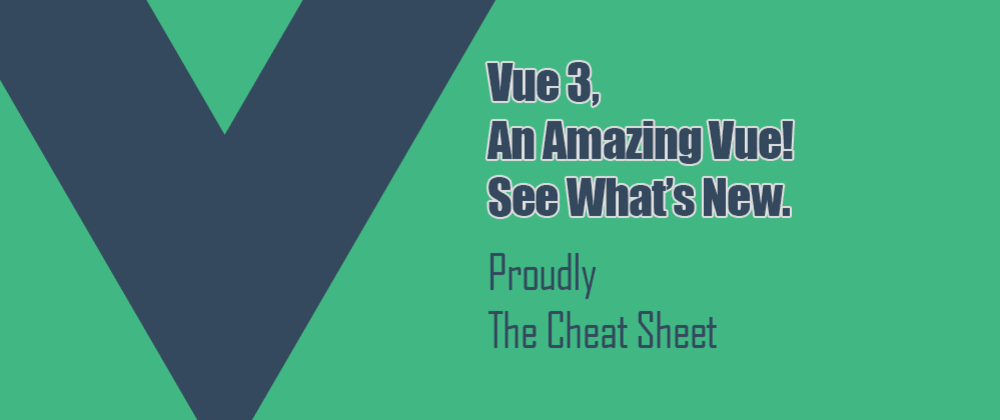 Cover image for Vue 3 Cheat Sheet