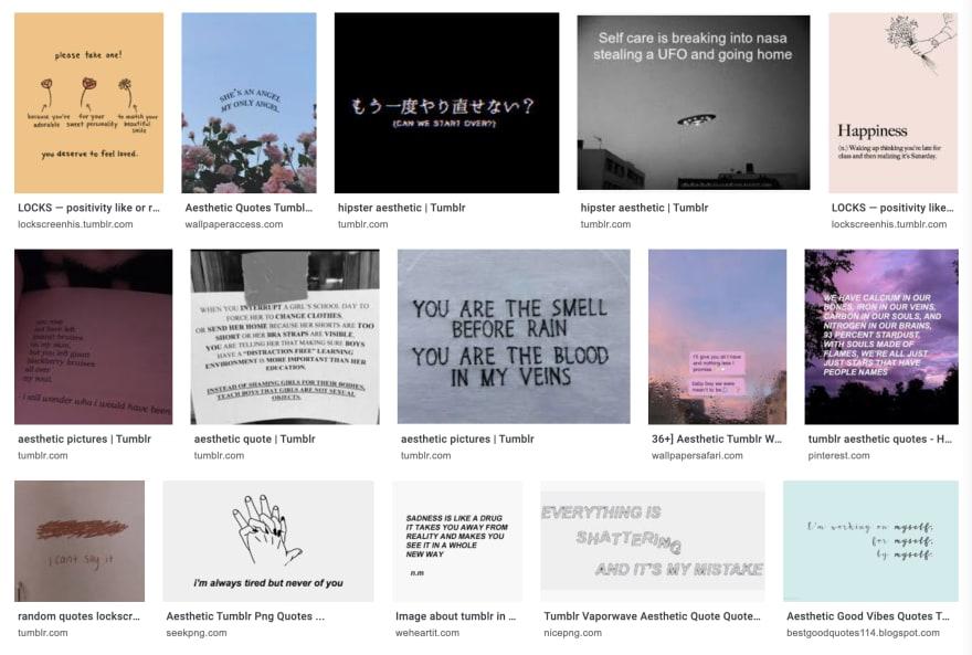 Tumblr aesthetics