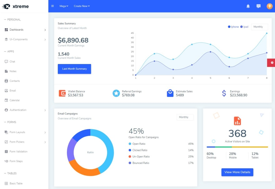 xtreme-react-admin-template