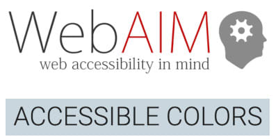 Logos of WebAIM and Accessible Colors