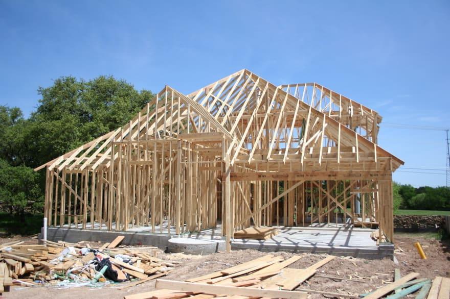 Half build house