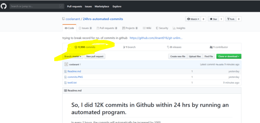 How I did 12K commits in Github within 24 hrs - DEV