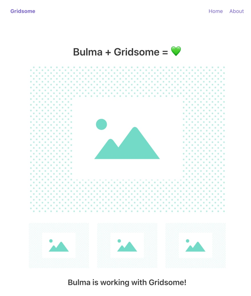 Gridsome Bulma example