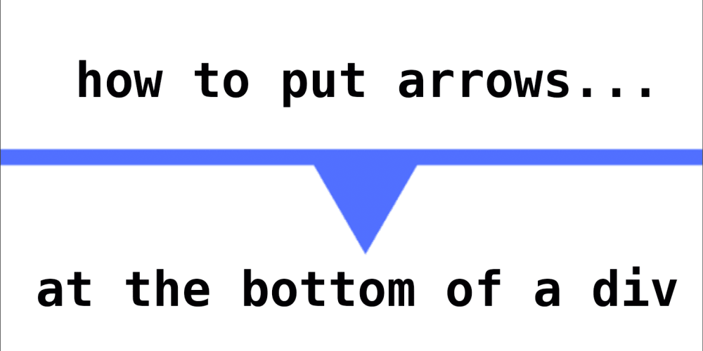 How To Put Arrows at the Bottom of a Div - DEV Community