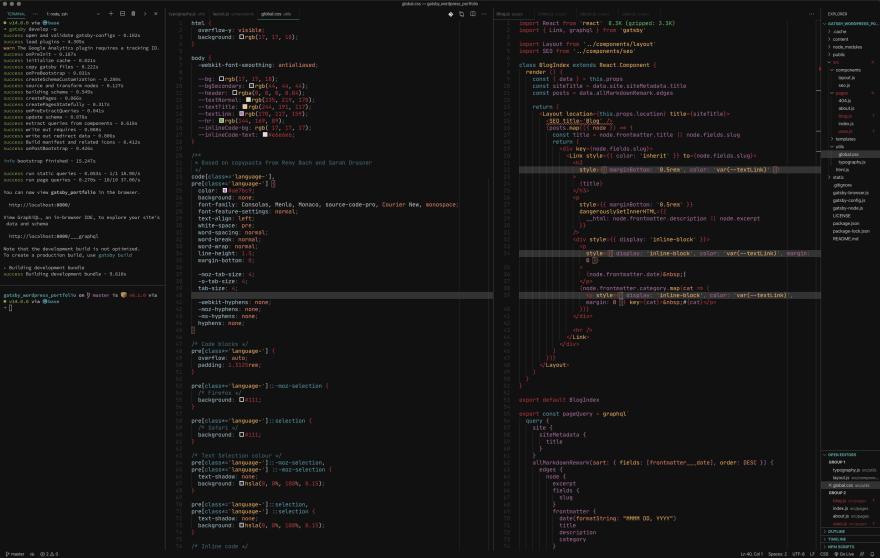 screenshot of Visual Studio Code